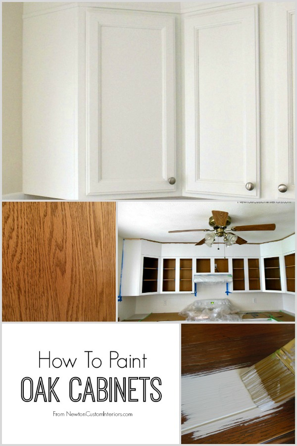 How To Paint Oak Cabinets From Newtoncustominteriors