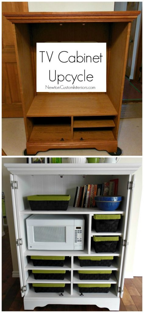 Tv cabinet upcycle for Armoire tv