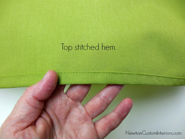 top stitched