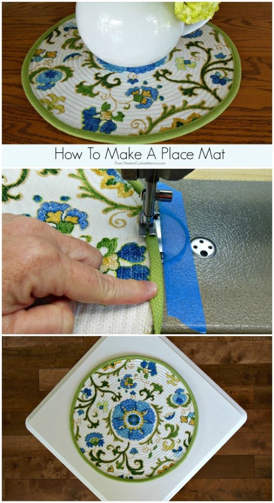 How To Make A Place Mat from NewtonCustomInteriors.com. Learn how to make this cute place mat with this easy step-by-step sewing tutorial.