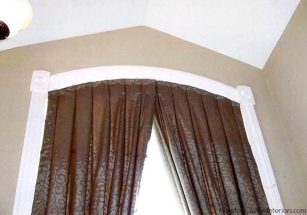 eyebrow window with inverted pleat panel