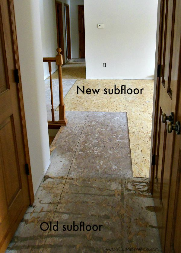 new subfloor