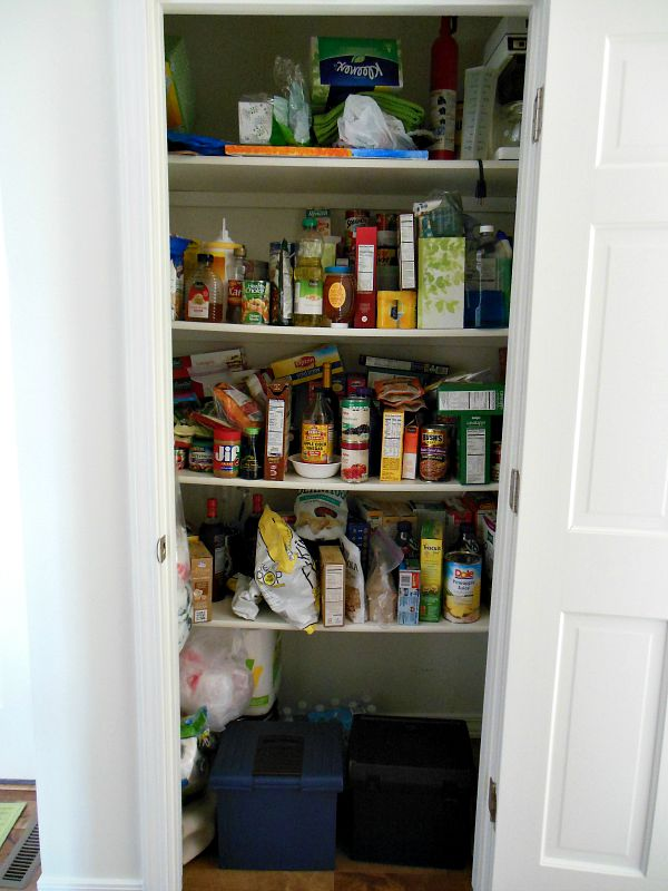 How To Organize A Pantry - Before