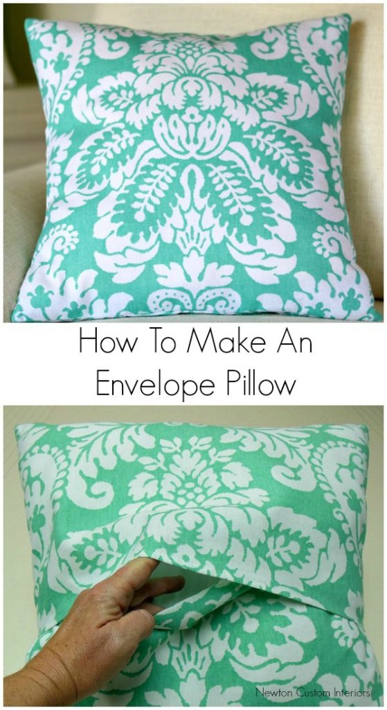 how to make an envelope pillow newton custom interiors. Black Bedroom Furniture Sets. Home Design Ideas