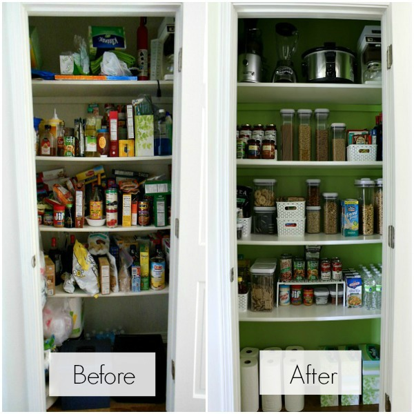 How To Organize A Pantry before and after