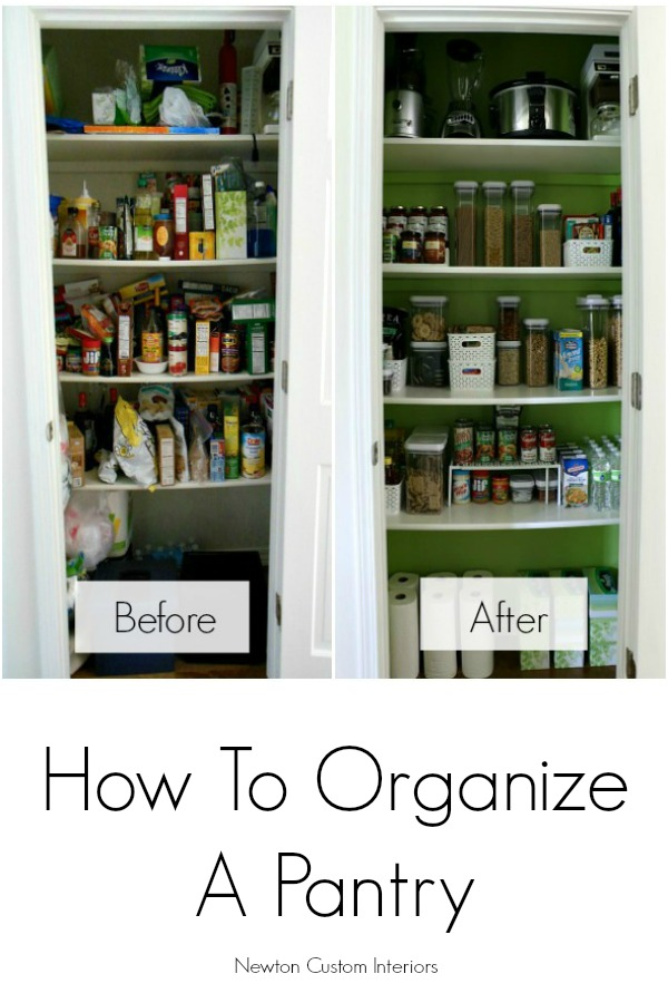 how to organize a pantry newton custom interiors