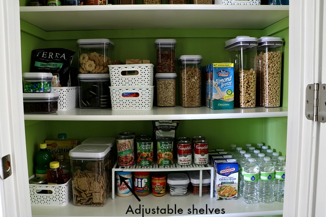 How To Organize A Pantry - Adjustable Shelf