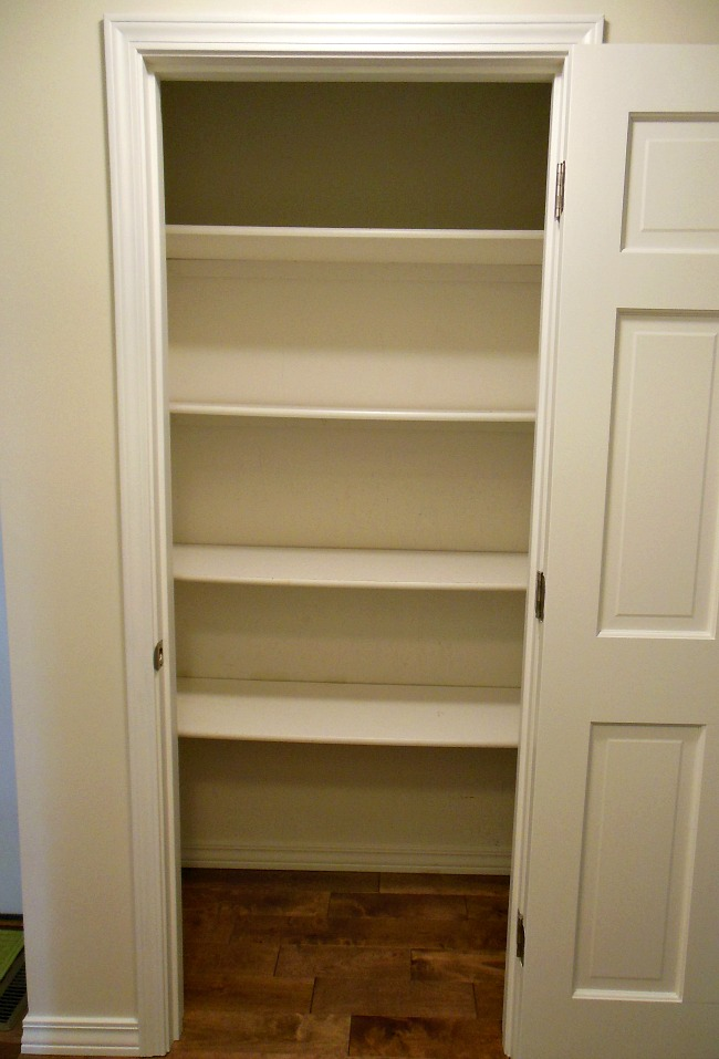 How To Organize A Pantry - Empty Shelves