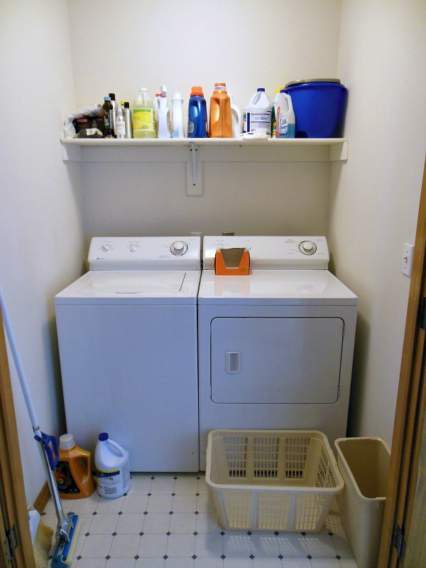 Organizing A Small Laundry Room Before