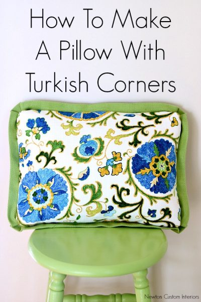 How To Make A Pillow With Turkish Corners