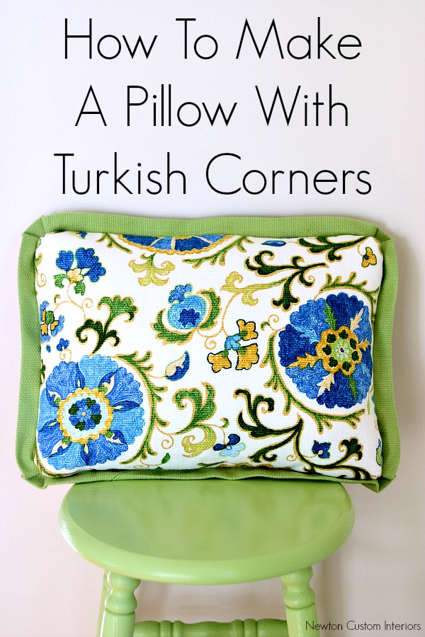 How To Make A Pillow With Turkish Corners - This sewing tutorial will show you step-by-step how to make turkish corner details.