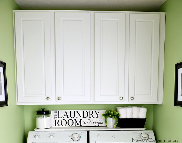 Organizing A Small Laundry Room With Additional Cabinet Storage