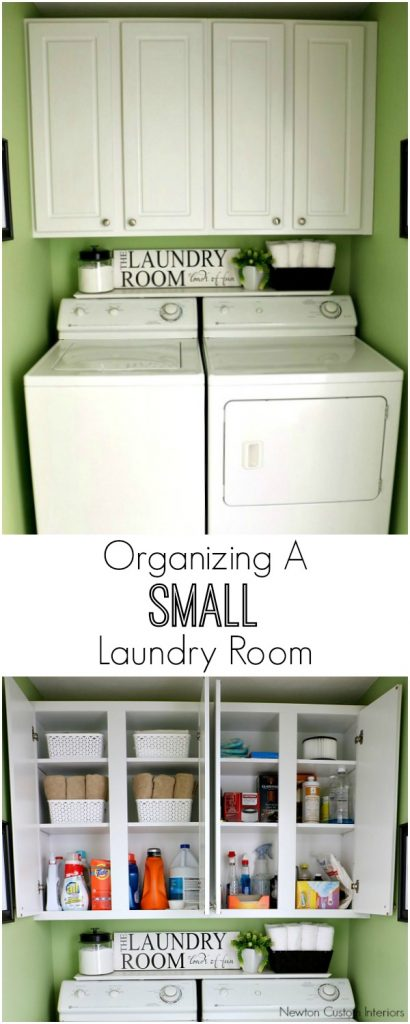 Organizing a small laundry room newton custom interiors for How to organize a small room