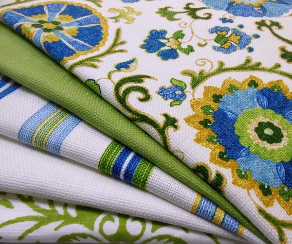Main living area fabrics.