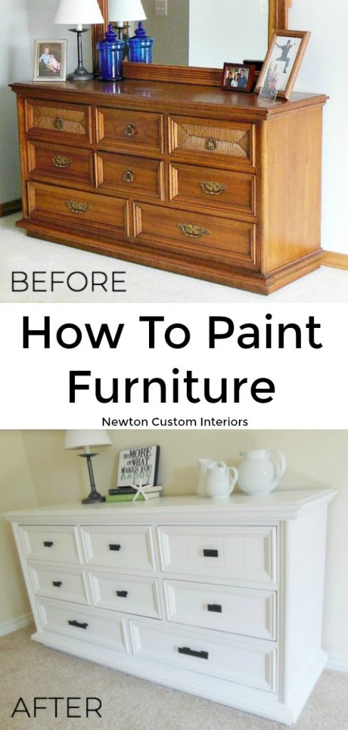 Learn how to paint furniture, which is a great way to update your furniture!