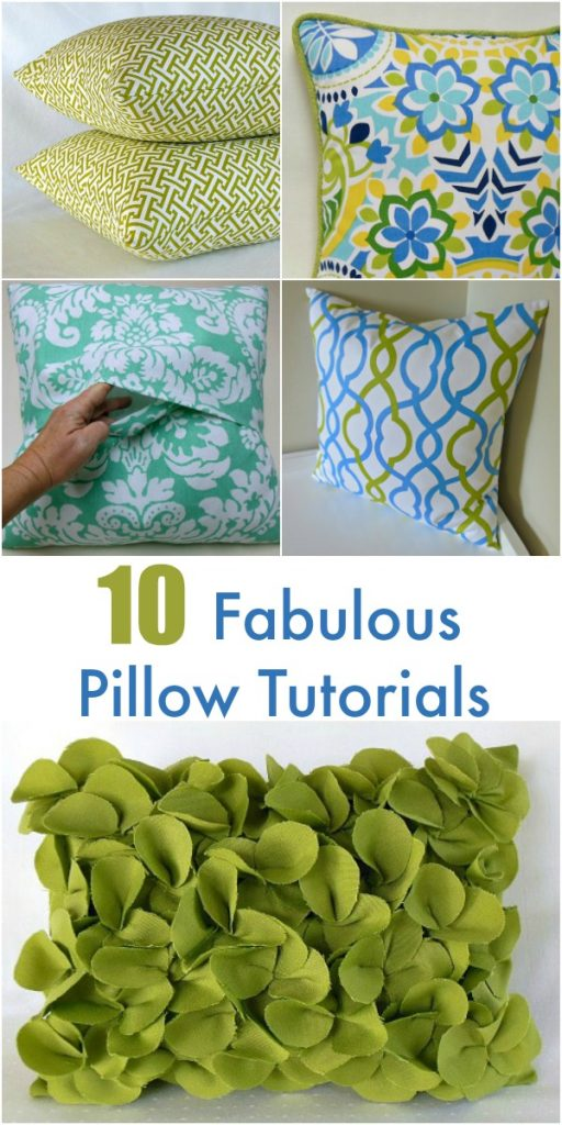 10 Fabulous Pillow Tutorials
