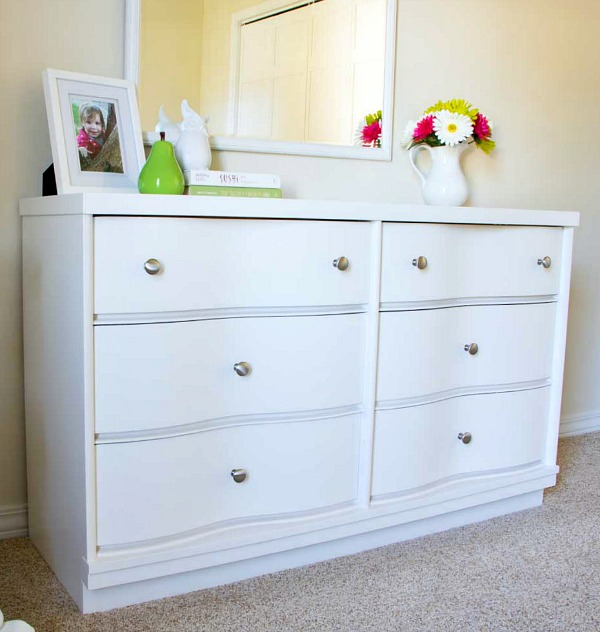 Guest bedroom dresser painted