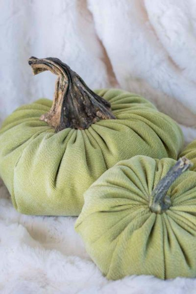How To Make A Velvet Pumpkin
