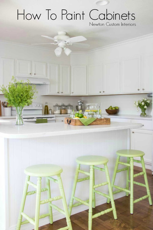 Learn how to paint cabinets to give your kitchen or bathroom and updated look!