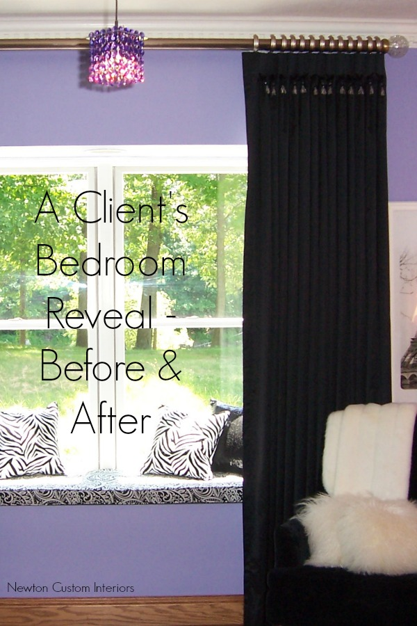 A client's bedroom reveal - before and after!