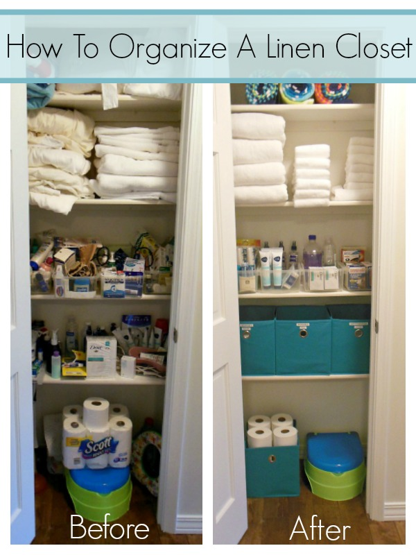 How to organize a linen closet with this detailed tutorial!