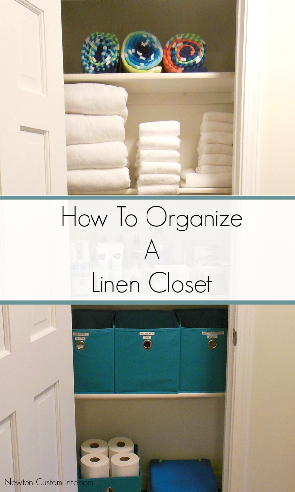 Learn How To Organize A Linen Closet with these detailed steps.