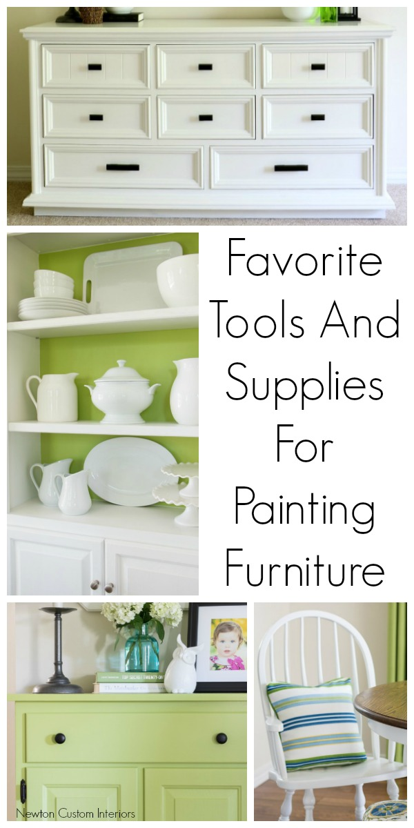 Favorite tools and supplies for painting furniture