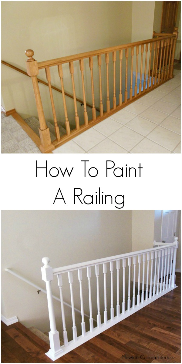 How to paint a railing.