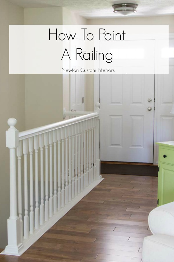 How to paint a stair railing the easy way!