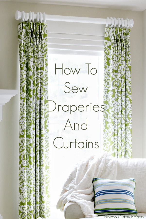 How to sew draperies and curtains for your home.