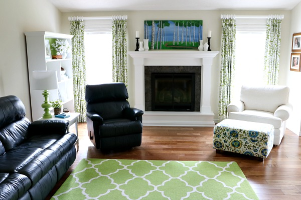 Here S The Room With Pillows Notice How Add Lightness To Dark Furniture And Help Tie All Elements Of Together