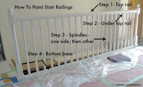 When The First Coat Of Paint Has Dried, Apply A Second Coat Of Paint To The Stair  Railing. Using The Same Method As First Coat Of Paint.