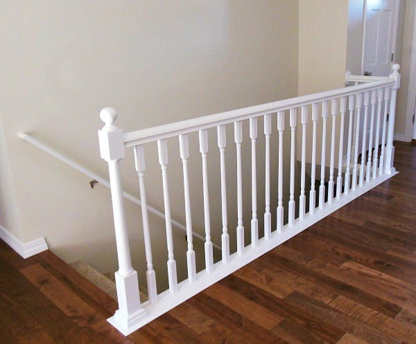 Stair railing after railing