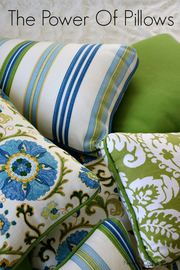Decorative pillows are a quick and easy way to update the look of your room, and very budget-friendly!
