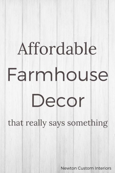 Affordable Farmhouse Decor That Really Says Something