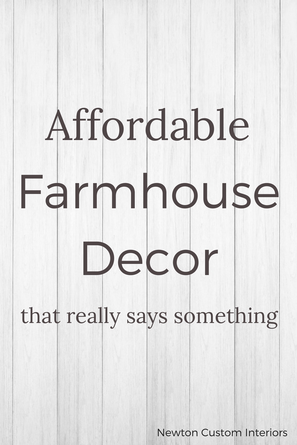 Affordable farmhouse decor that has a special message!