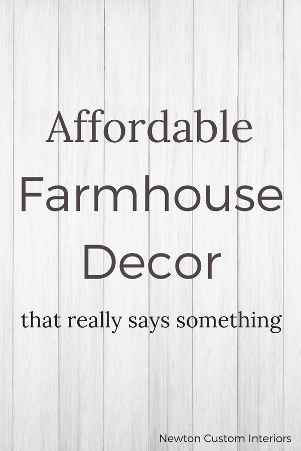 Affordable Famhouse decor that really says something!