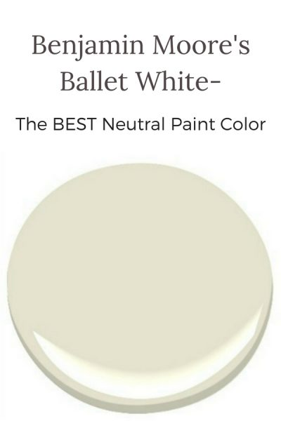 Benjamin Moore's Ballet White: The Best Neutral Color