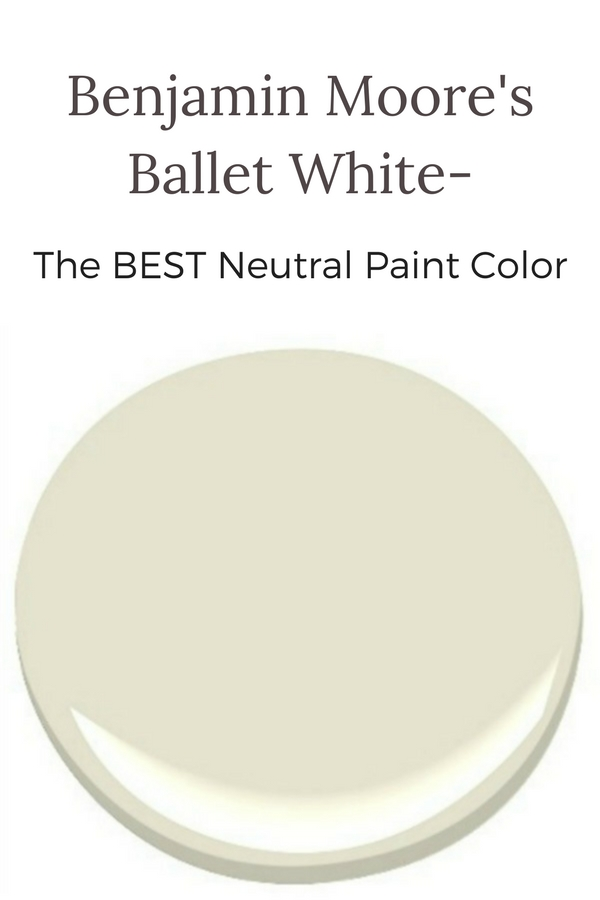Benjamin Moore's Ballet White is the perfect neutral paint color for your home!