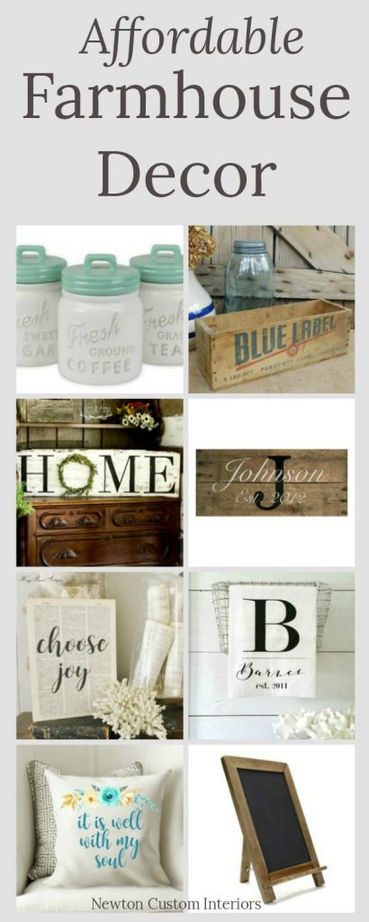Affordable farmhouse decor that really says something!