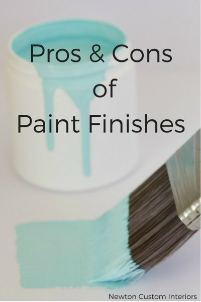 Pros & Cons Of Paint Finishes