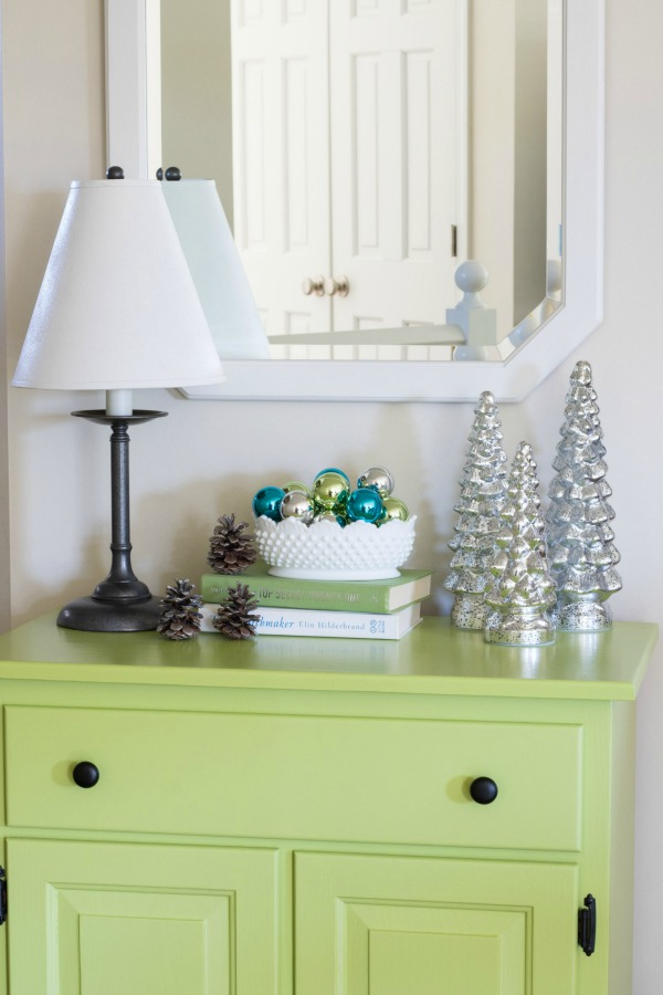 Christmas home tour - silver trees.