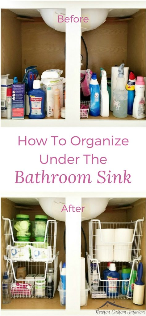 How To Organize Under The Bathroom Sink - Newton Custom Interiors Organize Under Bathroom Sink on organize my bathroom, 50 bathroom vanity double sink, organize under your sink, organize under bed, bathroom vanity cabinets with sink, kohler rectangular undermount bathroom sink, rolling organizer for pedestal sink, organize and clean bathroom, open shelf bathroom vanity with sink, organize under cabinet,
