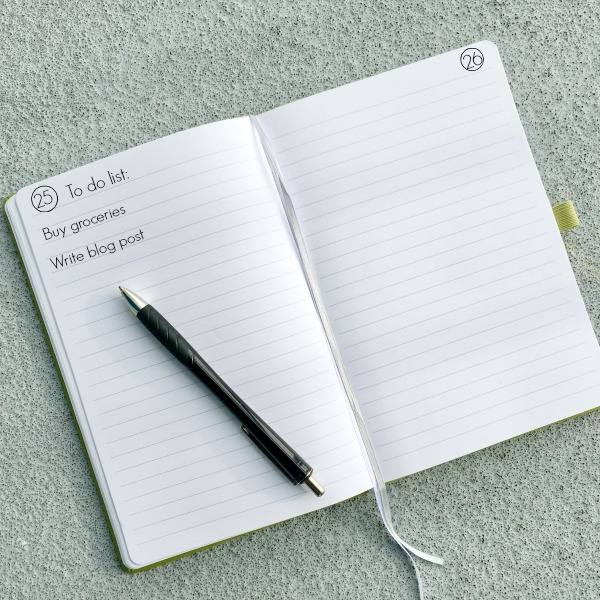 A bullet journal can help ease the emotional toll of clutter by giving you a place to write down all of your ideas and to-do lists.