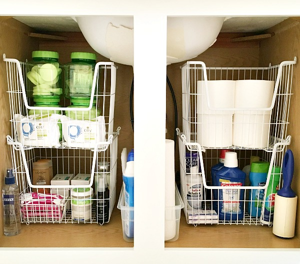 Stackable bins can help control the clutter in your life by keeping it organized.