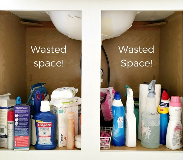 One way to help with the emotional toll of clutter is to re-organize your spaces and use any wasted space.