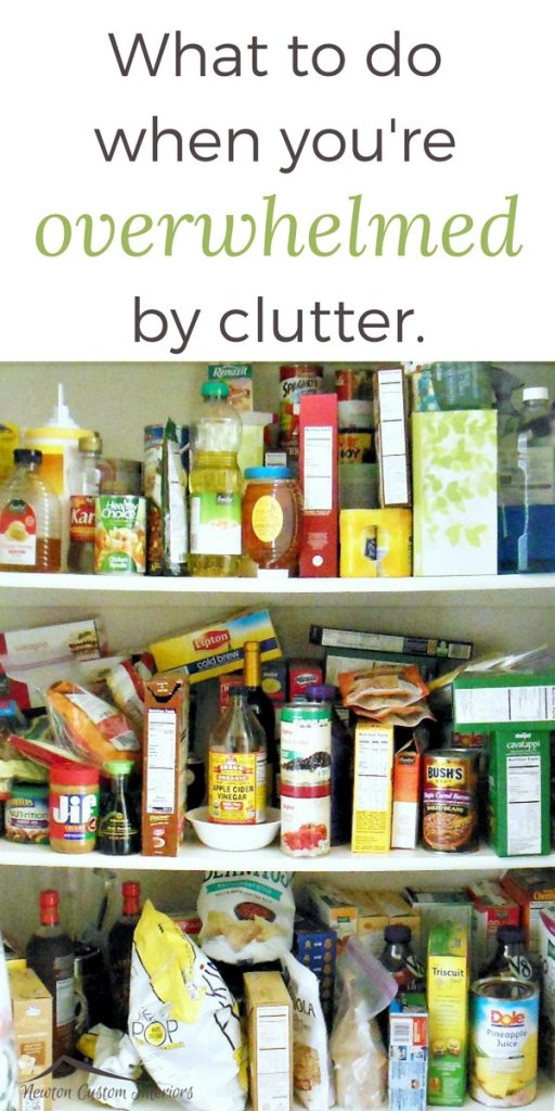 The emotional toll of clutter can overwhelm you! Learn how to control the clutter in your life!