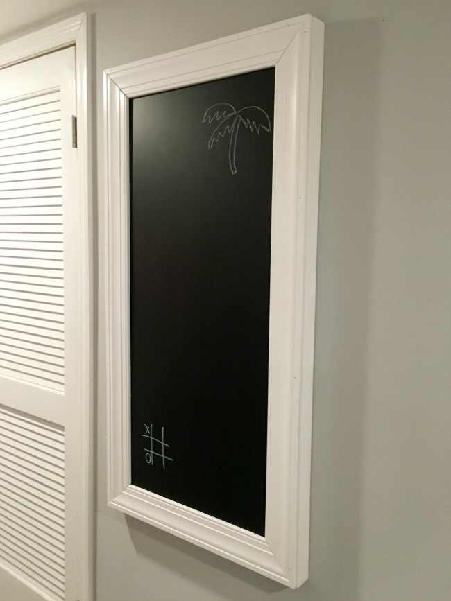 Chalkboard electric panel cover.