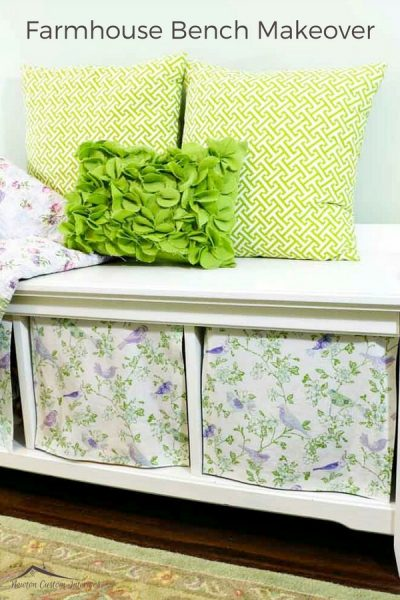Farmhouse Storage Bench Makeover