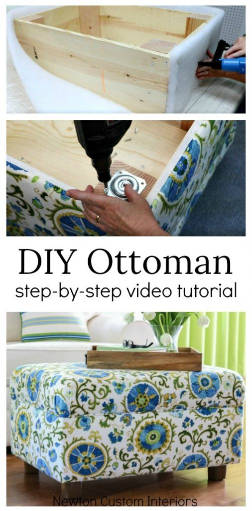 Learn how to make an ottoman with this step-by-step video upholstery tutorial!